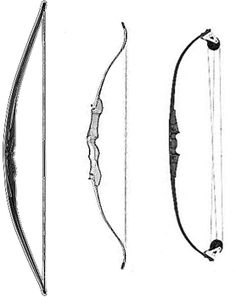 Longbow, recurve, compound. Have the Compound, need the rest!