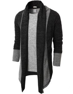 $31.99 Doublju Men's Shawl Collar Cardigan With No Button (KMOCAL012)&url=http://www.doublju.com/doublju-men-s-shawl-collar-cardigan-with-no-button-kmocal012