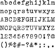 underwood vintage typewriter font