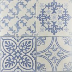 Absolutely love these Skyros Delft Blue Wall and Floor Tiles. I would love these on my bathroom floor.