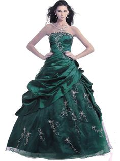 RohmBridal Women's Strapless Embroidery Princess Evening Ball Gown * Tried it! Love it! Click the image. : Trendy plus size clothing