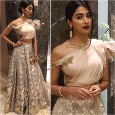 Looks to get Hook Of - AwesomeLifestyleFashion As glitter as it could be What a glamorous and beautiful look for a co. Indian Bridal Lehenga, Indian Gowns, Red Lehenga, Lehenga Choli, Indian Wear, Lehenga Blouse, Indian Wedding Outfits, Bridal Outfits, Indian Outfits