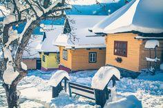 Vlkolínec | Aktuality.sk Winter Holidays, Wanderlust, Houses, Mansions, House Styles, Art, Winter Vacations, Manor Houses, Villas