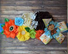 Boy Safari Jungle Maternity Sash, Jungle Safari Pregnant Sash, Flower Sash, Jungle Safari Baby Shower, Safari Flower Sash, Custom Belly Sash