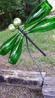 wine bottle dragonfly kk