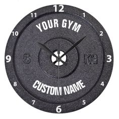 Shop Gym Owner or User Funny White Numbers Clock created by HumusInPita. Personalize it with photos & text or purchase as is! Home Gym Garage, Basement Gym, At Home Gym, Gym Workouts, At Home Workouts, Gym Decor, Gym Room, Pilates Studio, Home Gym Equipment