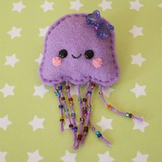 Felt Jelly Fish Brooch