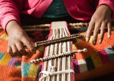 Authentic Andean Textiles by Threads of Peru - Angie Hodder. Traditional Andean textile production, involves the shearing of organic fiber from herds of free range alpaca and sheep; the washing and dyeing of the fiber using natural dyes (from insects, plants, and minerals of the region) and local plant-based soaps; hand-spinning of the fiber into thread using the drop spindle; and the weaving of cloth using the ancient back-strap and four post looms. Woven items feature superb iconography...