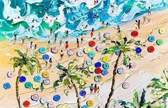Summer Beach Knife Oil Paintings by Alena Shymchonak Realistic Paintings, Watercolor Paintings, Original Paintings, Oil Paintings, Abstract Paintings, Watercolor Trees, Watercolor Portraits, Watercolor Landscape, City Illustration