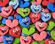 Happy Heart Cookies for Valentine's Day