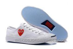 9a0fe3f99e1 CONVERSE Jack PURCELL 151019C Comme Des Garcons Love Heart White. Big Kids  Jordan Shoes