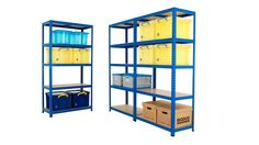 Our BEST SELLING shelving mega deal, with prices starting from just (ex. The is suitable for most general storage applications and a particula. Workshop Storage, Shed Storage, Garage Storage, Storage Boxes, Storage Ideas, Garage Lighting, Garage Shelving, Bays, Office Storage