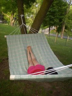 The Unusually Unusual Farmchick: How to make a 2 person hammock - All For Garden