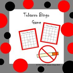Tobacco Bingo is a great game to help your students review information about tobacco.  Every student is engaged while playing this game...there is no sitting around waiting for a number you need to be called.  Each time a number is called all students will be answering the question on their BINGO sheet...just in different places!