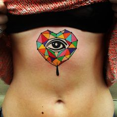 Geometric tattoo | Aivaras Lee | colour | abdomen