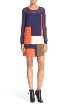 Diane von Furstenberg 'Raegan' Patchwork Silk Shift Dress available at #Nordstrom