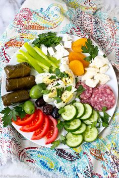 """""""A simple Turkish breakfast is easy to prepare ahead of time and features a well-balanced, colorful plate."""" Looks DELICIOUS!"""