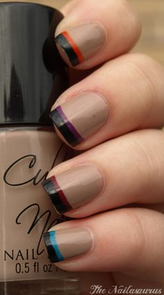 French tip with two colors