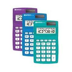 Paquete de  10 calculadoras  Eco-calc dual power 8 dígitos memoria indep