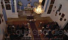 capilla para la boda católica decoración.