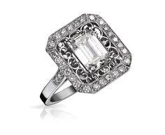 Bague Philomena Diamant : or et diamant #bague #orblanc #diamants #bijoux #luxe #valeriedanenberg