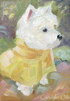 WEST HIGHLAND WHITE TERRIER Dog 13 X 17 LARGE ART DJR