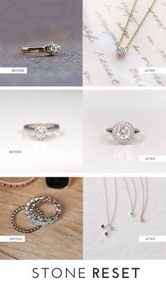 Old stones with new style.  Is there anything in your jewelry box ready for a makeover?  We are loving how these recent Stone Resetters reimagined their pieces.