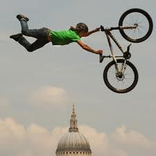 Always wanted to train to do stunts with a professional #BMX biker