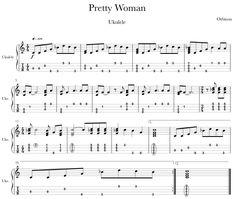 Ukulele Tabs Songs, Ukulele Fingerpicking Songs, Easy Guitar Songs, Music Tabs, Uke Tabs, Guitar Sheet Music, Guitar Lessons, Pretty Woman, Disney Ukulele
