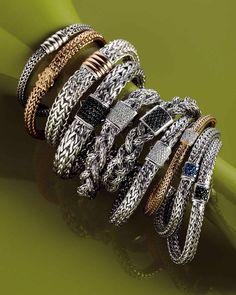 John Hardy Bracelets & Jewelry at Neiman Marcus Jewelry Ads, I Love Jewelry, Jewelry Trends, Jewelry Stores, Silver Jewelry, Jewelry Accessories, Fine Jewelry, Fashion Jewelry, Jewelry Design
