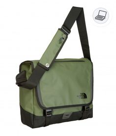 The North Face Base Camp messenger bag - size M MILITARY GREEN/TNF BLACK