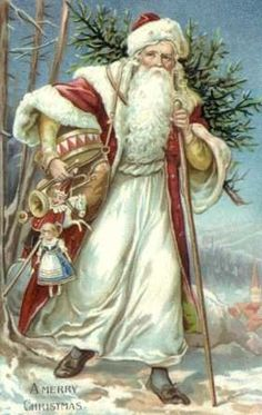 Lots of free vintage images of Father Christmas