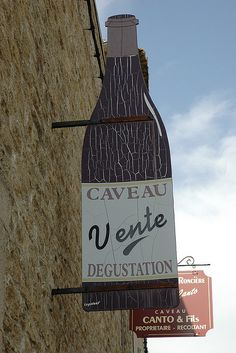 Wine Shop Sign - Chateauneuf du Pape by marcosborn, via Flickr
