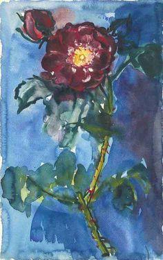 Anselm Kiefer (German, b. 1945), Rose, 1972. Watercolour on paper, 48 x 29.9 cm.