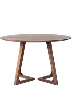 """Celine Round Dining Table - Solid American walnut.47"""" diam. x 29.5"""" h.SOBU vendor imported design. Please allow 2-3 weeks for delivery."""