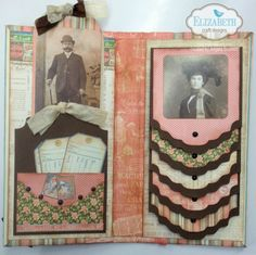 It's Angela Beavers here and today I want to share this fun and functional waterfall album with you. It's a great way to share you. Mini Albums, Mini Photo Albums, Mini Scrapbook Albums, Vintage Scrapbook, Heritage Scrapbooking, Scrapbooking Layouts, Graphic 45, Waterfall Cards, Waterfall Photo