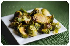 Crispy Garlic Roasted Brussels Sprouts