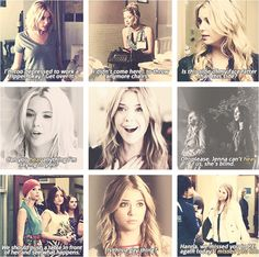 Love all of her idiotic but Adorable quotes :) And I miss the old hanna with out her boos