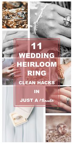 11 Wedding Heirloom Ring Clean Hacks In Just A Minute (depends on rings!)   Wedding ring cleaner diy I Wedding ring cleaner I wedding ring cleaning tips I Wedding ring cleaner at home I