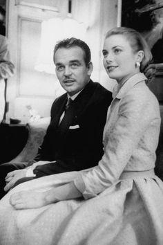 Prince Rainier and Princess Grace Kelly, 1956