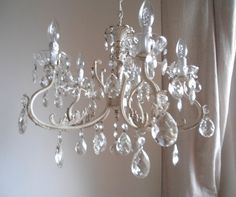 SPRINGTIME LIGHTS Stunning 5 arms vintage chandelier by LorellaDia, $450.00