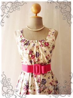 Blooming  Exotic Floral Dress Light Pink Dress with by Amordress, $44.30
