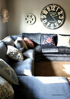 media room sectional. The Collins from Lazy boy. the number for the fabric, hope this helps! # C982054