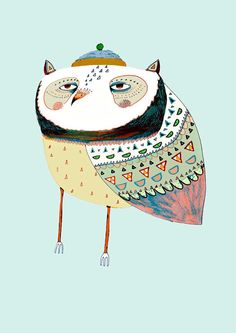 Owlfred Limited edition art print by Ashley by AshleyPercival, $40.00