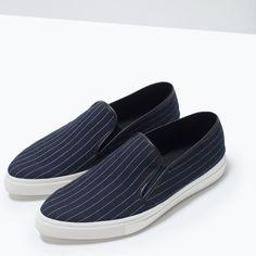 Image 5 of PINSTRIPE SLIP-ONS from Zara