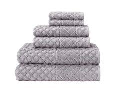 Glossy 6 Piece Towel Set