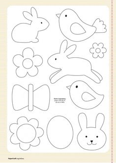 Free templates from your april issue papercraft inspirations easter clipart ideas Felt Crafts, Easter Crafts, Crafts For Kids, Easter Ideas, Applique Templates, Applique Patterns, Easter Templates, Bird Template, Owl Templates