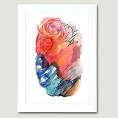 The Bautiful Tiny Flower Girl in Dream Land by FlowerFairyArt, $80.00