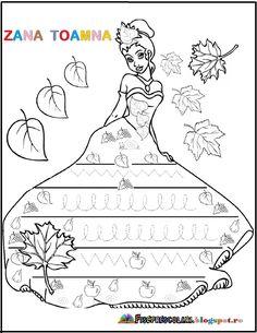 FISE cu Semne grafice pentru copii - TOAMNA - Zana Toamna | Fise de lucru - gradinita Preschool Writing, Numbers Preschool, Preschool Worksheets, Preschool Learning, Indoor Activities For Kids, Autumn Activities, Infant Activities, Educational Activities, Baby Ladybug