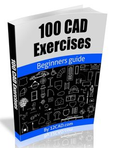 100 CAD Exercises - Learn by Practicing!: Learn to design and Models by Practicing with these 100 CAD Exercises! , 100 CAD Exercises - Learn by Practicing!: Learn to design and Models by Practicing with these 100 CAD Exercises! Drawing Book Pdf, Cad Drawing, Mechanical Engineering Design, Mechanical Design, Civil Engineering, Bloc Autocad, Autocad 2016, Learn Autocad, Solidworks Tutorial